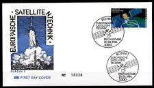 Europäische Satellitentechnik. Rundfunksatellit TV-SAT/TDF-1. FDC(2). BRD 1986