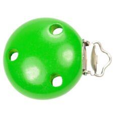 Clip Pince Attache Tetine vert en Bois 3,5 cm Rond