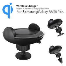 Qi Wireless LED Car Charger Air Vent Dash Mount Holder For Samsung Note8 S8 Plus