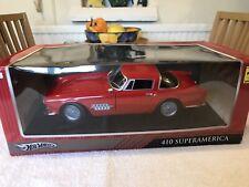 Hot Wheels 1/18 Scale T6244 Ferrari 410 Superamerica, Red, NEW