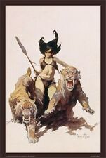 ~~ FRANK FRAZETTA ~ THE HUNTRESS 24X36 POSTER ~ HARD TO FIND! ~~