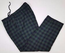 LL Bean 2XL Pajama PANTS Lounge PANT Multicolor CHECK Tartan BLUE Green MENS Sz*