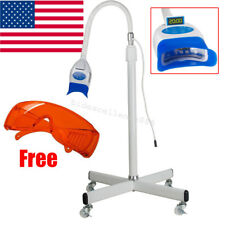 Mobile Dental Teeth Whitening LED Lamp Light Bleaching Accelerator Holder Goggle