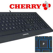 CHERRY STRAIT Corded Keyboard /Tastatur (DE)  USB - ultraflach black - NEU