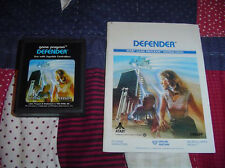 DEFENDER Atari 2600 Vintage Game Used With Directions Booklet