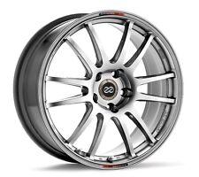 17x8 Enkei GTC01 5X112 +50 Hyper Black Rims Fits VW cc eos golf jetta gti