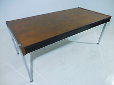 Vintage 60's Harvey Probber Executive Walnut Chrome Desk Mid Century Modern