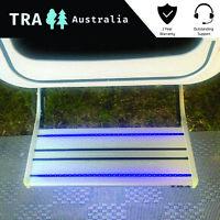 CARAVAN 12V BLUE LED MANUAL BOLT ON LIGHT STEP RV PARTS ACCESSORIES STEPS JAYCO