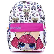 LOL Surprise Large School Backpack All Over Print White 16