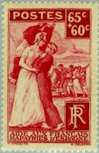 EBS France 1938 - Leftists Repatriated from Spanish Civil War - YT 401 MH*