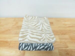 """Abyss Zoo Egyptian Cotton 2 BATH Towels 54""""L x 28""""W Taupe/Black $200 G5105"""