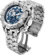 Invicta Mens Venom Hybrid Silver-Tone 51MM Dial Chrono 500M Swiss Bracelet Watch