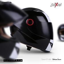 SOXON ST-666 Deluxe Snow - Integral-Helm Sturz-Helm Motorrad-Helm Street-Fighter