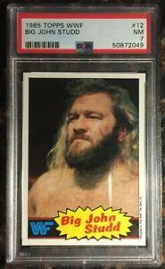 1985 Topps WWF #12 Big John Studd PSA 7 NM WWE Wrestling Card