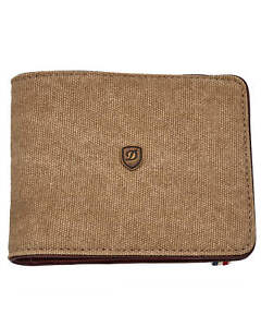 ST Dupont Iconic Beige 8 Credit Card Canvas & Calf Leather Billfold 190302 $275