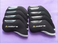 10PCS Golf Iron Headcovers Windows for Cobra Club Covers Caps Protector Black