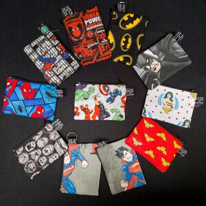 Superhero DC Marvel Batman Spiderman Wonderwoman Super Coin Purse Cash Xmas Gift