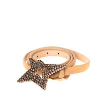 Rrp €165 Schumacher Leather Belt Size 100 / 40 Skinny Star Stud Made in Portugal