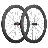 700C Disc Brake Wheelset 55mm Front+Rear Carbon Wheels Road Bicycle MATT NO disc