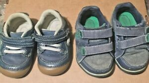 Lot Toddler Shoes Stride Rite Toddler Boy Sz 3T/4T Blue/Navy Leather Suede 875