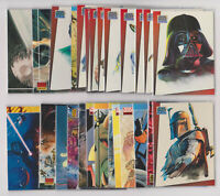 COMPLETE 28 CARD SET - 1993 Topps Star Wars Galaxy Bend Ems Cards #A-BB RARE