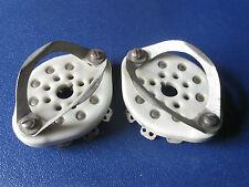 Pair EF Johnson 'Octal' ceramic tube sockets fit 5AR4,5692,6550,EL34,6L6GC,6V6GT