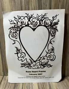 The Scrap Pack Rose Heart Frame Rubber Stamp Scrapbooking and Crafting