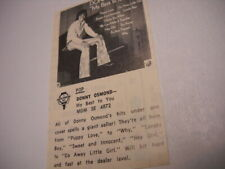 Donny Osmond My Best To You original 1972 music biz Promo Album Review