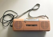 Vintage Sharp QT-50 Pink (Peach) Stereo Radio Cassette Player Stranger Things