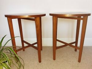 MID CENTURY PAIR OF FOLDING SIDE TABLES POUL HUNDEVAD G PLAN PLANT STAND
