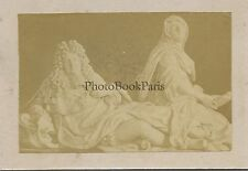 Statue Roi Religion CDV Photo Vintage Albumine