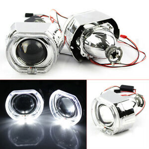 2.5 inch LED Angel Eye HID Bi-Xenon Projector Lens Headlight Red Devil Demon Eye