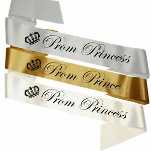 Prom Sashes Prince & Princess Sash Graduation Ball Leavers Do Party High School