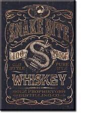 Snake Bite Whiskey Magnet Magnetschild aus USA