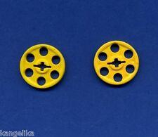 4185 NEUWARE Umlenkrolle LEGO Technik 2 x Riemenscheibe gelb e9