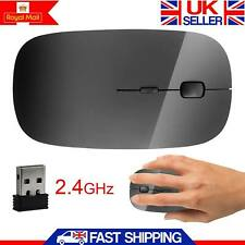 Wireless Mouse Slim 2.4 GHz USB Optical Cordless Scroll for PC Mac Laptop Black