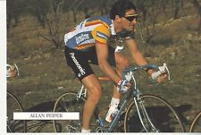 CYCLISME carte cycliste ALAN PEIPER équipe PANASONIC ISOSTAR 1989