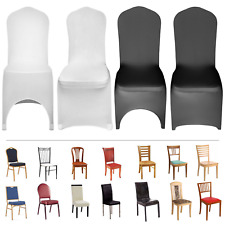 50/100 Chair Covers Spandex Lycra Wedding Banquet Anniversary Party Decor -White