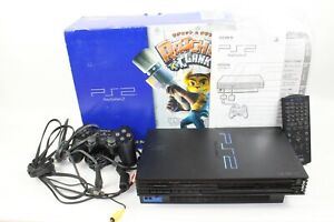 Sony PlayStation2 Black Console SCPH-39000 JP GAME PS2 Japan tested working Box