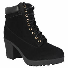 Block Fur Suede Boots for Women