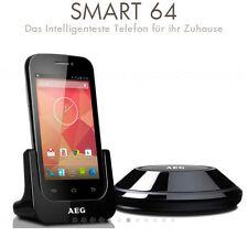 AEG SMART 64 Multimedia Wi-Fi DECT-Telefono con sistema Android, 4 LCD-Display a colori
