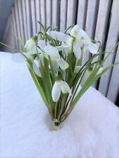 2x Schneeglöckchen Stecker Blumen Zweig Kunststoff Kunstpflanze 27cm HOME KONTOR