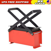 Paper Log Briquette Maker Steel Black and Red Eco-friendly Manual Press Machine