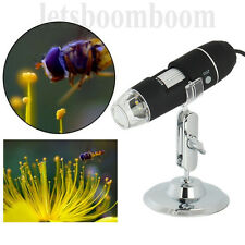 1000 x USB Digital Mikroskop Lupe Fach Video PC Microscope Kamera 8 LED