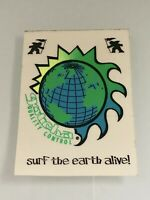 """Vintage GOTCHA """"Surf the Earth Alive"""" Surfboard Sticker Decal 1980's - RARE!"""