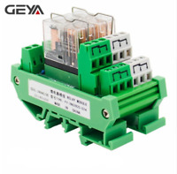 GEYA 2 Channel Omron Relay Module 2NO2NC DPDT PLC RELAY Interface 12V 24V AC/DC