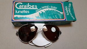 lunettes de surf  avec protections cuir, made in France vintage collection