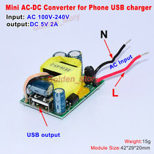 Mini AC-DC Converter AC 110V 220V 230V to 5V 2A DIY Pad Phone USB Charger Module