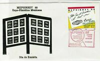 mexico 1988 philatelic expo. stamps cover ref 20277