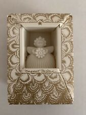 Margaret Furlong 2� Daisy Porcelain Bisque Angel Ornament With Easel 1993 Nib